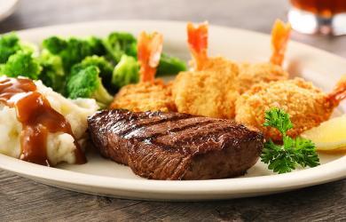Steak Fried Shrimp