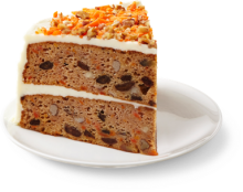 Traditional Carrot Cake - Slice